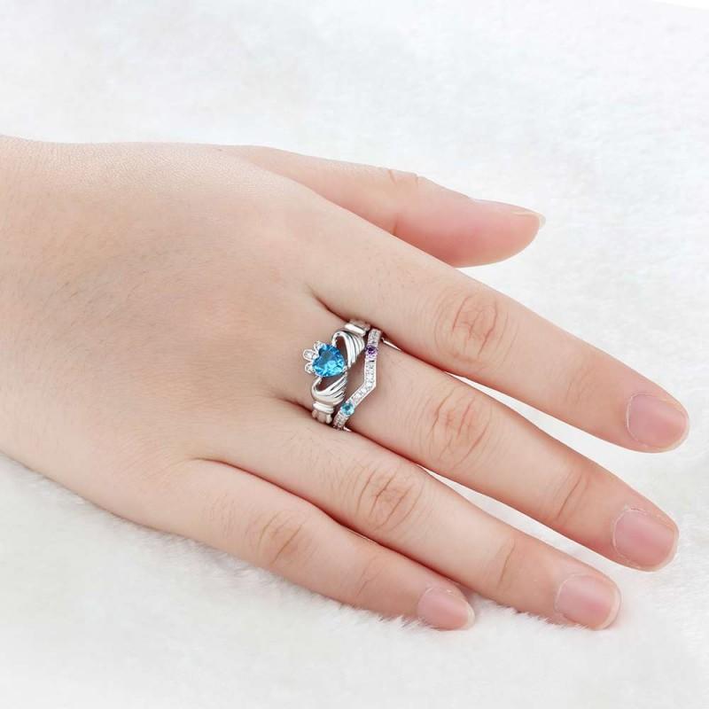 Birthstone Rings Mothers Rings 925 Sterling Silver ...