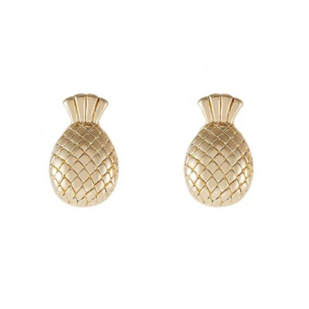 Sweetheart Pineapple S925 Sterling Silver Earrings