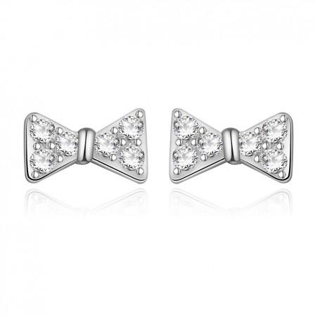Fashion Temperament Bow S925 Sterling Silver Anti-Allergic Ear Jewelry