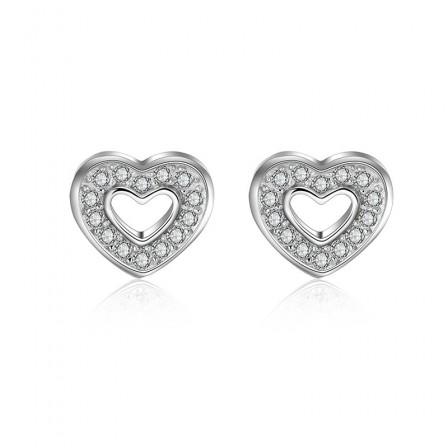 Good S925 Sterling Silver Heart For Love Women Earrings