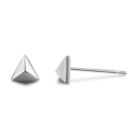 Creative Simple Triangle S925 Sterling Silver Stud Earrings