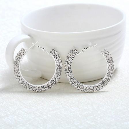 2018 New Round Diamond Retro Jewelry Gift Earrings