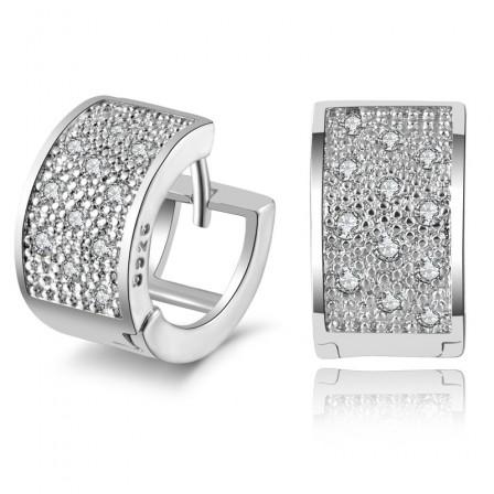 S925 Sterling Silver Cubic Zirconia Women'S Fine Earrings