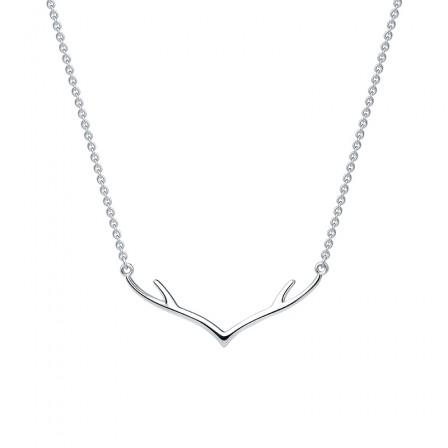 Elk Silver Necklace Korean Fashion Simple and Short Necklace