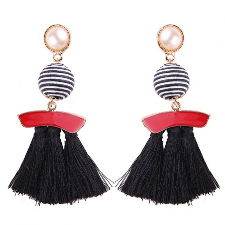 2018 Fashion New Alloy Womens Long Tassel Earrings