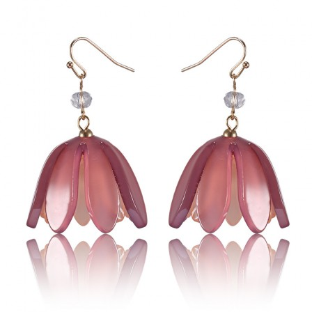 European Exaggerated New Style Acrylic Petal Earrings
