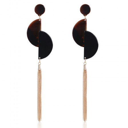 European Simple Fashion Acrylic Tassel Ladies Earrings