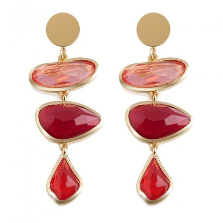 European Personality Pendant Resin Specail Long Earrings