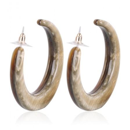2018 Jewelry New Acrylic C Type Earrings