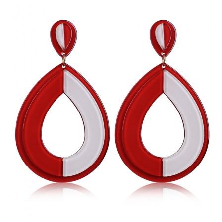 Fashion Exaggerated Water Drop Acrylic Earrings