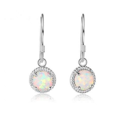 Popular S925 Sterling Silver Round Pendant Earrings
