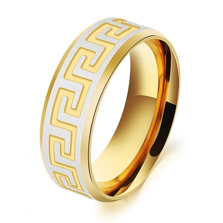 New Fashion Jewelry Gold Great Wall Men's Ring Gifts