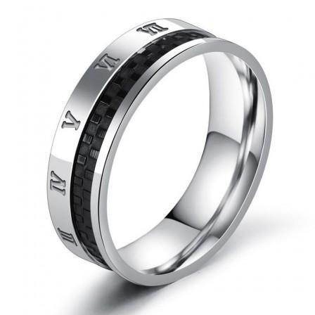 Titanium Steel Roman Digital Titanium Ring Lettering