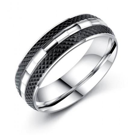 Black Personality Domineering Titanium Steel Men's Index Finger Ring