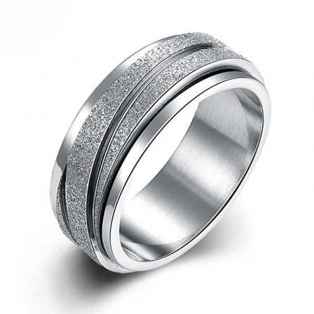Stainless Steel Fashion Men's Rotating Gear Ring