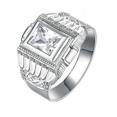 S925 Sterling Silver Men's Fashion Ring