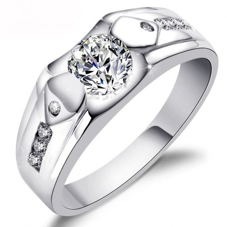 S925 Sterling Silver Men's Wide Personality Ring