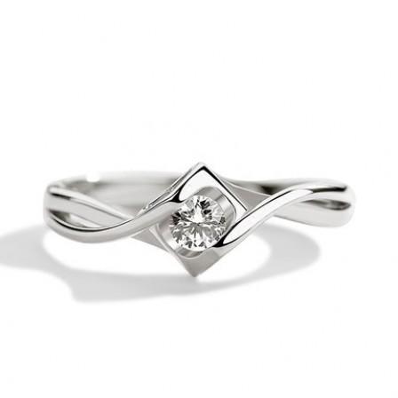 Creative Square Diamond Open Ring Female Engagement Ring