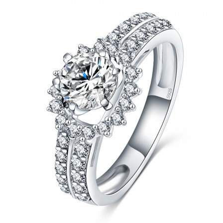 S925 Ring Hearts And Arrows Zircon Fashion Hipster Ring