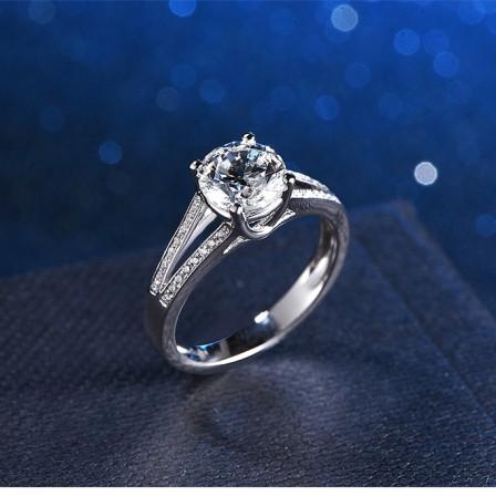 1 Carat Cz Diamond Ring Engagement Ring
