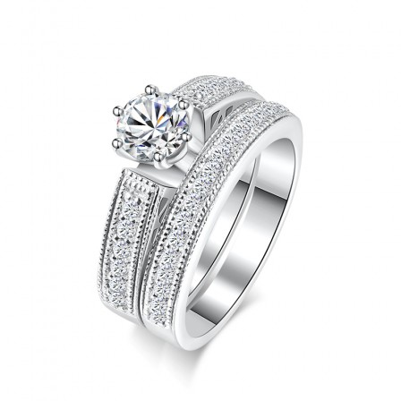 High-End Fashion Set Diamond Wedding Ring For Her