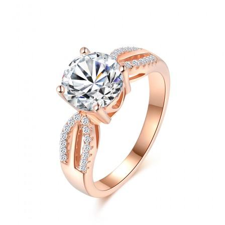 Luxury Rose Gold Double-Row Diamond Ring