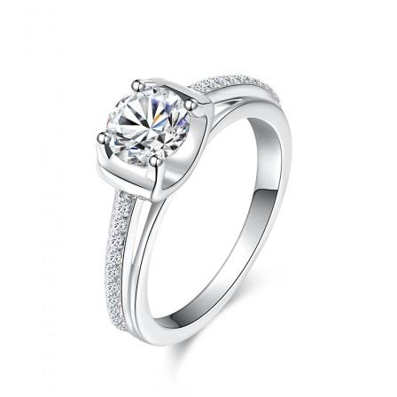 Tau Luxury Diamond Female Engagement Ring/Promise Ring