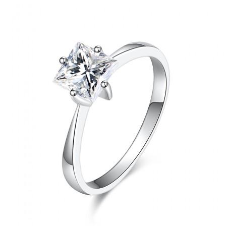 Princess Shiny Square Diamond Promise Ring