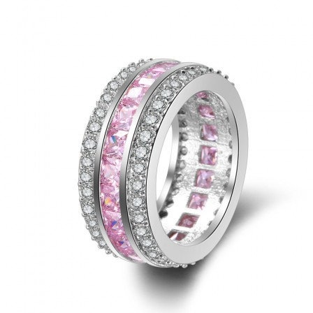 Pink Diamond Ring With Zircon Engagement Ring