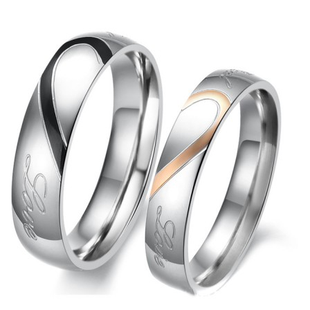 New Style Titanium Jewelry Ring Puzzle Lovers Valentine