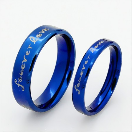 Modern Lovers Titanium Steel Couple Rings Valentine'S Day Gift