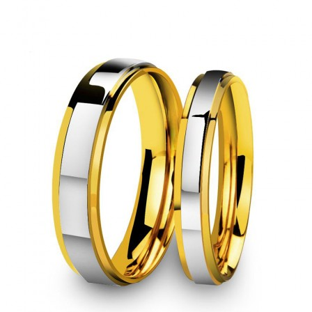 Titanium Golden Meaning Of Love Rings For Couples