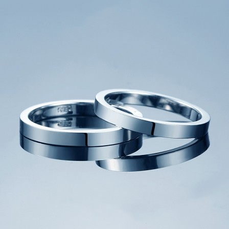 Simple Surface Design S925 Sterling Silver Couple Rings