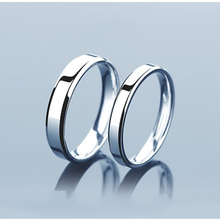 Charming Stylish S925 Sterling Silver Opening Couple Rings