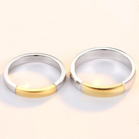 Creative Simple S925 Sterling Silver Couple Rings