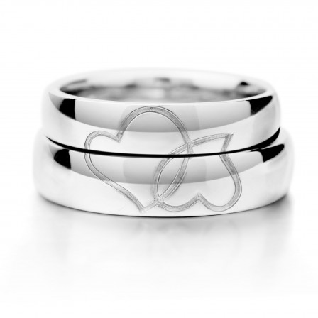 Creative Heart-Shaped Puzzle S925 Sterling Silver Couple Rings