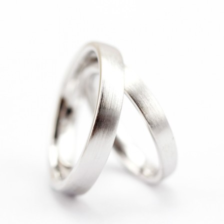 S925 Sterling Silver True Love Silver Couple Rings