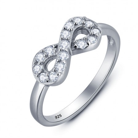 Fashion Jewelry S925 Sterling Silver Cubic Zirconia Ring