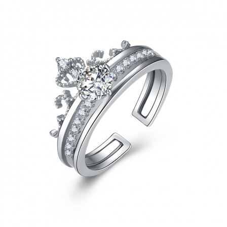 S925 Sterling Silver Ring Stylish Crown Ring