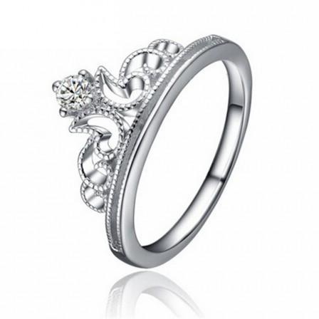 Fashipn 925 Sterling Silver Female Crown Ring