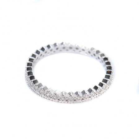 S925 Sterling Silver Ring Delicate Princess Crown Simple Fashion Diamond Inlaid Ring