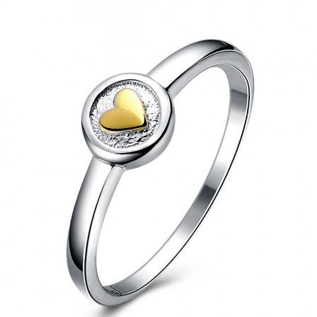 Personality Sterling Silver Gold Plated Sliver Rings