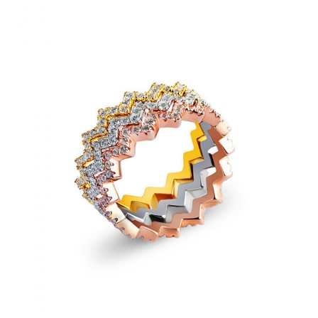 Gorgeous S925 Sterling Silver Multi-Colors Ring Girlfriend Gifts