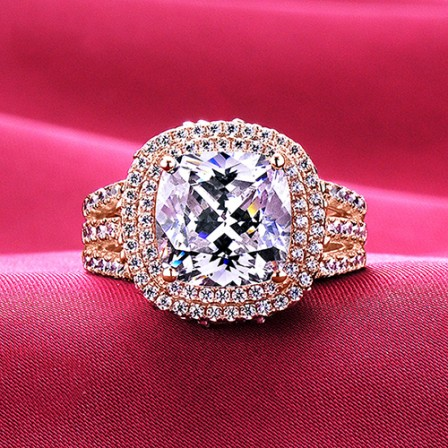 4 0 Carat Big Diamonds Rose Gold Color Escvd Diamonds Lovers Ring Wedding Ring Women Ring