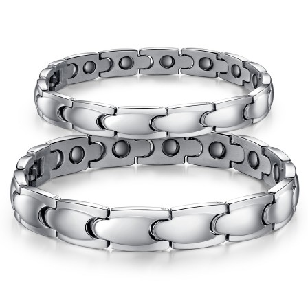 Korean Fashion Valentine's Day Gift Titanium Bracelet with Import Brazilian Hematite Lovers Bracelets