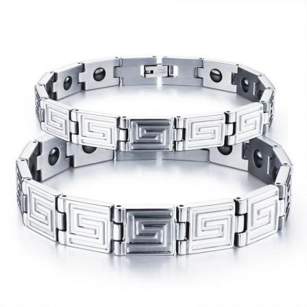Classic Style Titanium Steel Fashion Lovers Bracelets