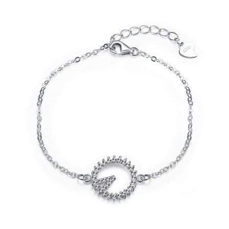 New Arrivals Charming S925 Sterling Silver Inlaid Cubic Zirconia Bracelet
