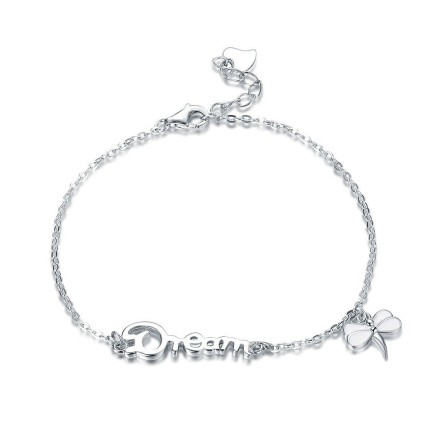 "Hot Selling ""Dream"" Infinite Love S925 Sterling Silver Inlaid Cubic Zirconia Bracelet"