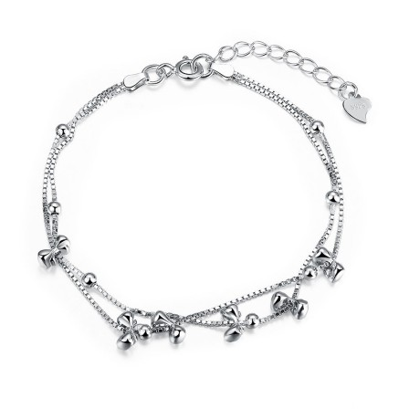 Exquisite Bowknot Design S925 Sterling Silver Bracelet