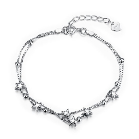 Popular Star Shaped S925 Sterling Silver Bracelet